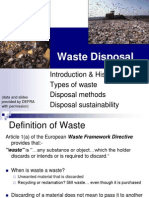 Lecture Waste Disposal