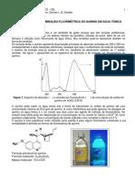 2014 - AULA PRÁTICA 3 - Licenciatura Química - DETERMINAÇÃO FLUORIMÉTRICA quinino