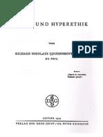 Coudenhove-Kalergi, Richard Nikolaus - Ethik und Hyperethik (1922)