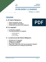 1. El Hecho Religioso y Lo Sagrado