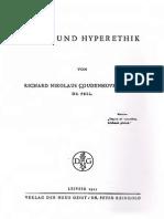 Coudenhove-Kalergi, Richard Nikolaus - Ethik und Hyperethik (1922, Text)