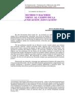Documento Decires y Haceres sobre Comunicación y Educación 2014