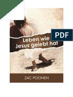 Leben wie Jesus gelebt hat - Zac Poonen