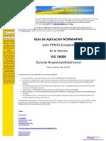 Guía de Aplicación NORMAPME para pymes ISO 26000