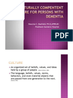 Culturally Competent Dementia Care