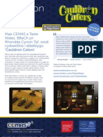 Cauldron Caters - Cymraeg