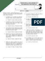EXAMEN MENSUAL - Razonamiento Matematico - 1ro de Secundaria.