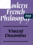 Descombes Vincent Modern French Philosophy