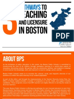 Pathways to Licensure in Boston Public Schools