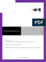 CU00689B conversion tipos java casting ejemplo classcastexception instanceof.pdf