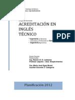 Planificacion Ingles Tecnico 2012 Faya