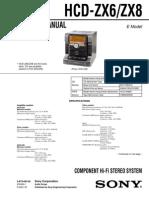 Hcd-zx6 Zx8 Diagrama Sony