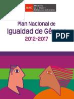 Plan Nacional de Igualdad de Género 2012 - 2017