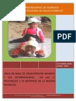 LÍNEA DE BASE DE DESNUTRICIÓN INFANTIL HUANUCO
