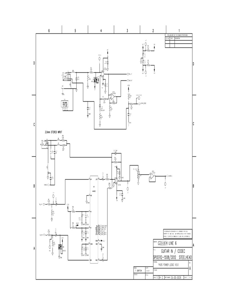 Line6 Spider 15w Ii3012 1508 Amplifier Schematic Damages Tda2030av Integrated Circuit Electromagnetism