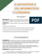 TEXTOS EXPOSITIVOS O CIENTÍFICOS, INFORMATIVOS Y LITERARIOS