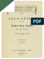 Kohler, Louis - 12 Easy Studies - Op. 157.pdf