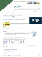 Macro para enviar conteúdo de Célula do Excel por e-mail _ Excelmax Soluções, Excel, Software, Simulador, Gráfico, Macro, VBA
