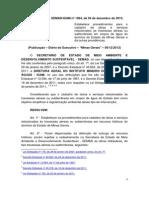 Resolução Conjunta SEMAD-IGAM nº 1.964, 04-12-2013