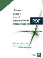 Lectura 5 - Clasificación de las Obligaciones. Dinerarias y de Valor.pdf