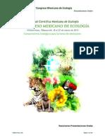 IV Congreso Mexicano de Ecología - Resúmenes de presentaciones orales.