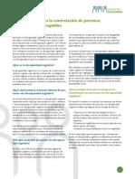 Orientaciones Para La Contratacion de Personas Con Discapacidad Cognitiva