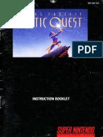 Final Fantasy Mystic Quest Game Manual (Squaresoft, 1992)