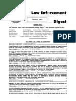 Washington State Criminal Justice Training Commission Law Enforcement Digest October 2002