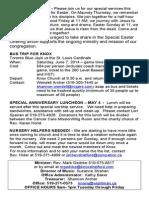 Palm Sunday - Bulletin - April 13/14 - Knox