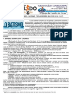LIÇÃO 12 – DISCIPULADO – BATISMO POR ASPERSÃO (MATEUS 3.1-6. 13-17)
