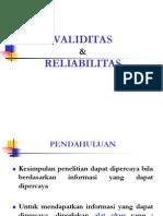 14 VALIDITAS & RELIABILITAS