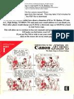 Canon AE-1 Manual
