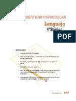 Cobertura Curricular Lenguaje 4basico 2013