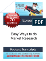 Easy Ways to do Market Research