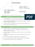 student teaching formative evaluation 1