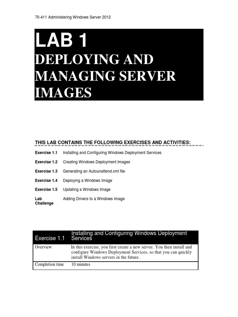 70-411 Administering Windows Server 2012 with Lab Print LM