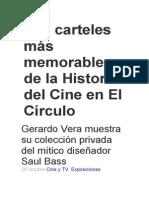Los carteles más memorables de la Historia del Cine en El Círculo