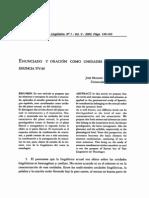 Enunciado y oración como unidades textuales enunciativas - José Manuel González Calvo