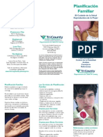 Family Planning Brochure Spanish