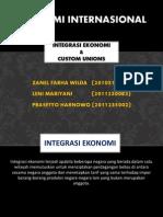 Custom Union Dan Integrasi Ekonomi
