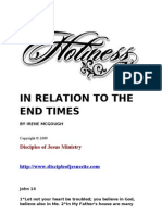 Holiness in Relation to the End Times