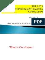 Curriculum Maths