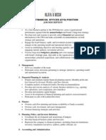 O&D CFO Job Description