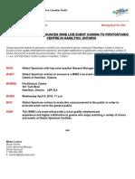 Sample Media Advisory - Global Spectrum (Internship Work)