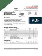 Ap4407gm - P-channel Enhancement Mode Power Mosfet