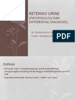 Retensio Urine (Urologi)