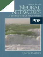 Neural Networks - A Comprehensive Foundation - Simon Haykin
