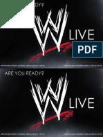 Sample Postcard - WWE LIVE - Global Spectrum (Internship Work)