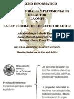 Derechos Morales Patrimoniales OMPI LFDA