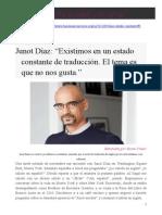 Entrevista Junot Díaz
